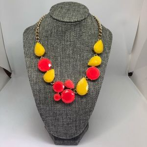 J Crew yellow/red crystal necklace